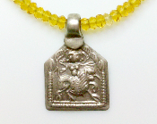 A Goddess in You— Antique Tribal Pendant: Durga, Citrine
