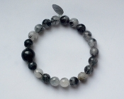 TOURMALATED QUARTZ BRACELET - PROTECTION